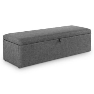 An Image of Sorrento Grey Fabric Blanket Box