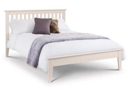 An Image of Wooden Bed Frame 5ft King Size Salerno Ivory
