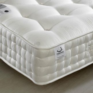 An Image of Tennyson 4000 Twin Pocket Sprung Air Flow Orthopaedic Natural Fillings Mattress - 4ft6 Double (135 x 190 cm)