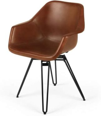 An Image of Hektor Tub Office Chair, Tan & Black