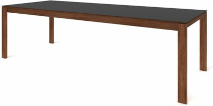 An Image of Custom MADE Corinna 12 Seat Dining Table, Grey HPL and Walnut