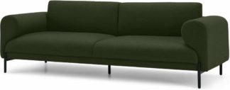 An Image of Orsel 3 Seater Sofa, Army Green
