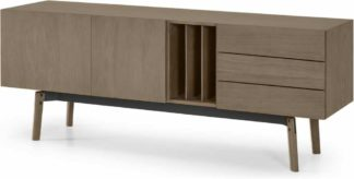 An Image of Mellor Sideboard, Dark Stained Oak & Textured Charcoal