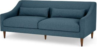 An Image of Herton 3 Seater Sofa, Orleans Blue