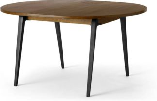 An Image of Lucien 4-6 Seat Round Extending dining table, Dark Mango Wood