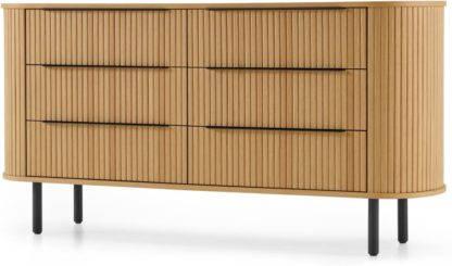An Image of Tambo 6 Drawer Wide Chest, Oak