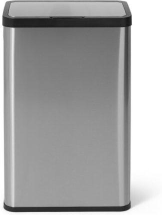 An Image of Fikran 60L Touch-Free Stainless Steel Sensor Bin, Silver