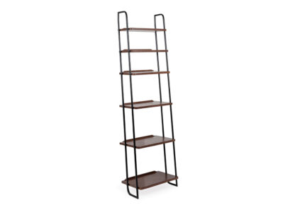 An Image of Heal's Brunel Lean To Wide Shelves Dark Wood