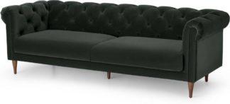 An Image of Barstow 3 Seater Sofa, Dark Anthracite Velvet