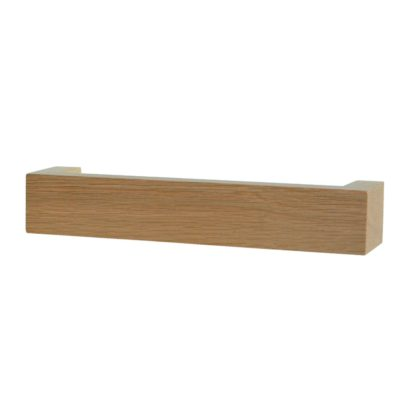 An Image of Wireworks Wall Mounted Hand Towel Rail Natural Oak