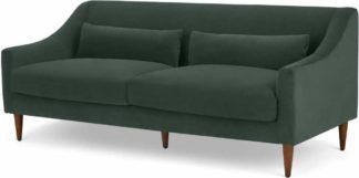 An Image of Herton 3 Seater Sofa, Autumn Green Velvet