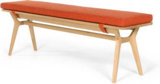 An Image of Jenson Bench, Oak and Retro Orange