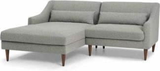 An Image of Herton Left Hand Facing Small Chaise End Corner Sofa, Mountain Grey