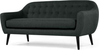 An Image of Ritchie 3 Seater Sofa, Anthracite Grey