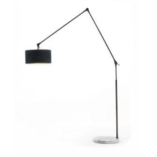 An Image of Porada Gary Big Floor Lamp Walnut Marble Base