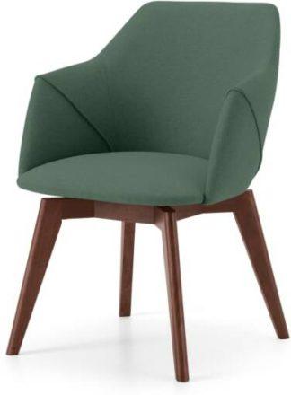An Image of Lule Office Chair, Bay Green & Walnut