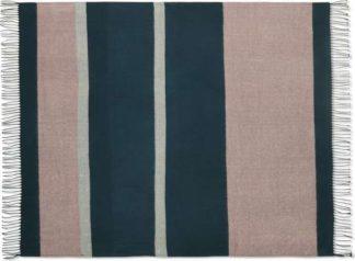 An Image of Auburn Throw, 130 x 170cm, Teal & Pink