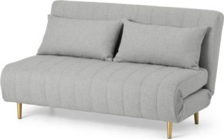 An Image of Bessie Large Double Sofa Bed, Luna Grey Weave