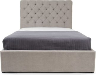 An Image of Skye King Size Ottoman Storage Bed, Owl Grey