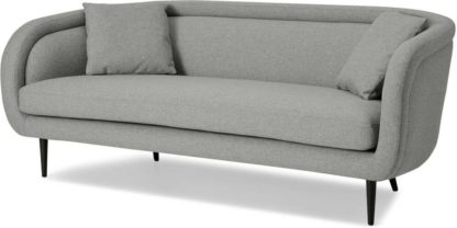 An Image of Caswell 3 Seater Sofa, Mountain Grey