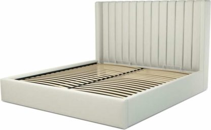 An Image of Custom MADE Cory Super King size Bed with Ottoman, Putty Cotton