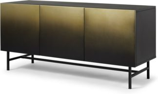 An Image of Sulta Wide Sideboard, Brass & Black Ombre
