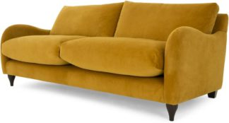 An Image of Sofia 3 Seater Sofa, Plush Turmeric Velvet