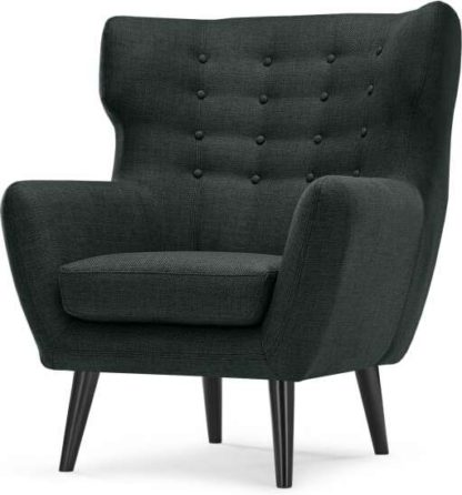 An Image of Kubrick Wing Back Chair, Anthracite Grey