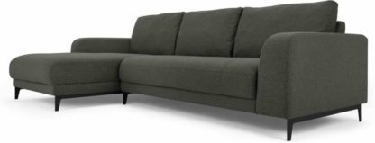 An Image of Luciano Left Hand Facing Chaise End Corner Sofa, Hudson Grey