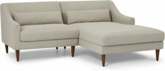 An Image of Herton Right Hand Facing Small Chaise End Sofa, Barley Weave