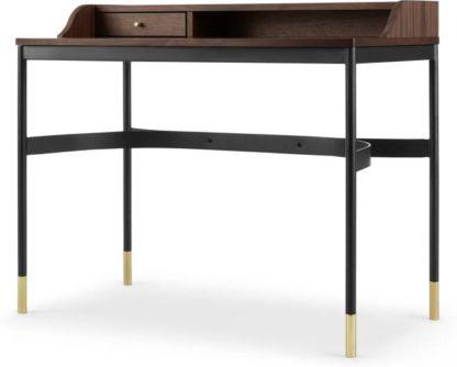An Image of Amalyn Compact Desk, Walnut