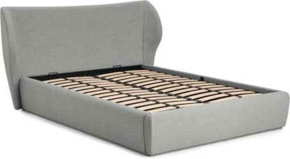 An Image of Topeka Double Ottoman Storage Bed, Mountain Grey