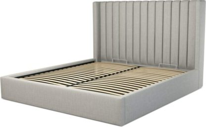 An Image of Custom MADE Cory Super King size Bed with Ottoman, Ghost Grey Cotton