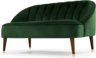 An Image of Margot 2 Seater Sofa, Forest Green Velvet