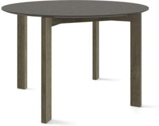 An Image of Custom MADE Niven 4 Seat Round Dining Table, Concrete and Smoked Oak
