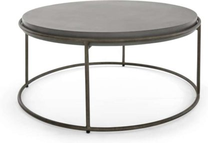 An Image of Zurn Round Coffee Table, Concrete