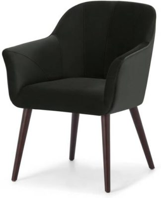 An Image of Fordell Carver Dining Chair, Mourne Grey Velvet