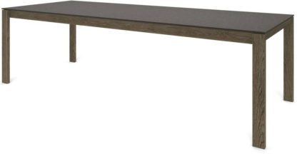 An Image of Custom MADE Corinna 12 Seat Dining Table, Concrete and Smoked Oak