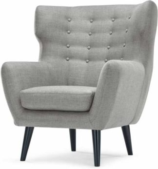 An Image of Kubrick Wing Back Chair, Pearl Grey