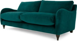 An Image of Sofia 3 Seater Sofa, Plush Mallard Velvet