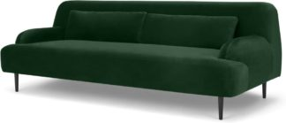 An Image of Giselle 3 Seater Sofa, Pine Green Velvet