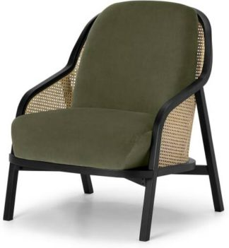 An Image of Anakie Accent Armchair, Sycamore Green Velvet