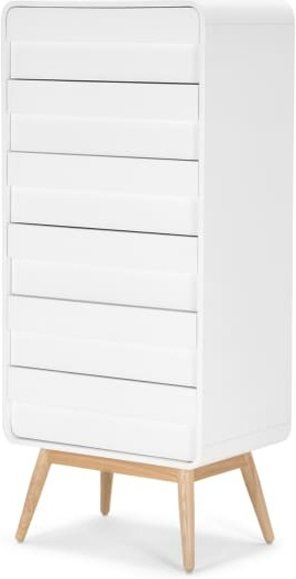 An Image of Esme Tall Chest, White and Ash