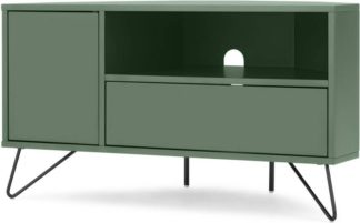 An Image of Elona Corner Media Unit, Fern Green & Black