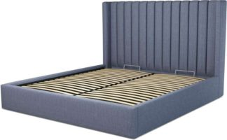 An Image of Custom MADE Cory Super King size Bed with Ottoman, Denim Cotton