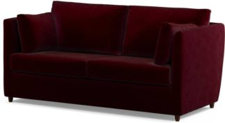 An Image of Milner Sofa Bed with Foam Mattress, Shiraz Burgundy Velvet