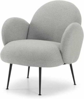 An Image of Bonnie Accent Armchair, Luna Grey Weave
