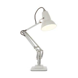 An Image of Anglepoise Original 1227 Mini Desk Lamp Linen White