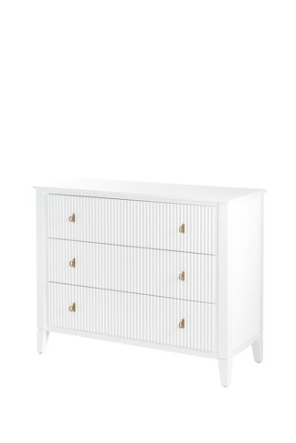An Image of Heidi Chest of Drawers Brass/Silver