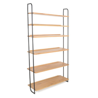 An Image of Heal's Brunel Lean To Wide Shelves With Metal Struts
